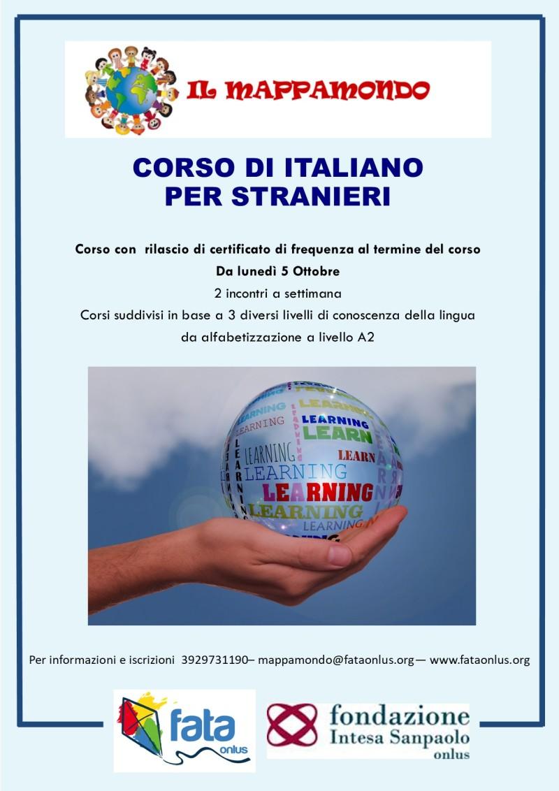locandina corso italiano per stranieri
