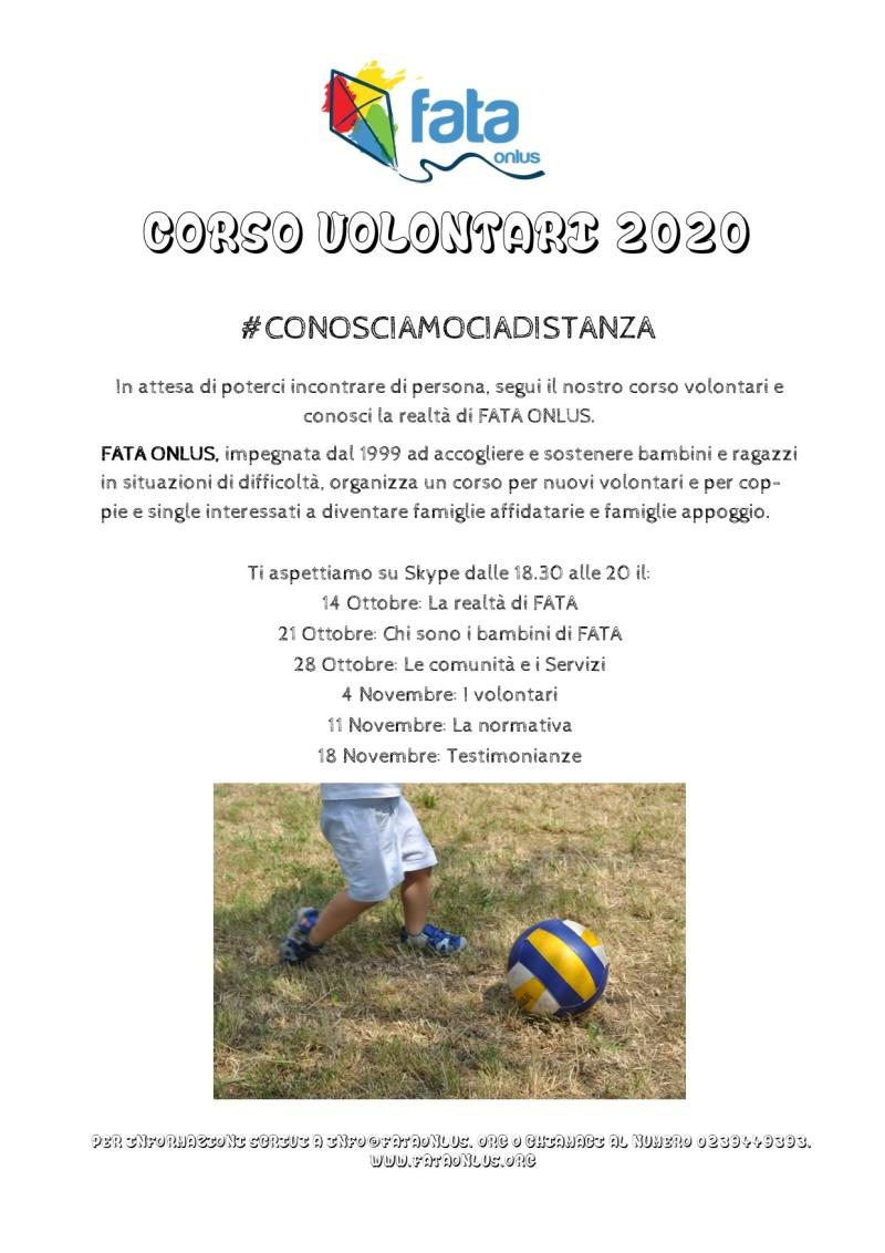 locandina corso volontari 2020-2