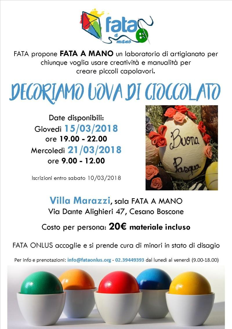 locandina sartoria - Decoriamo uova di cioccolato